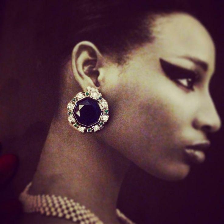 Lolu Rhoda Sapphire Large Octarine Studs