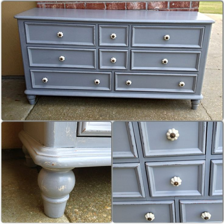 Seagull Gray Milk Paint Cabinets And Driftwood Kitchen General