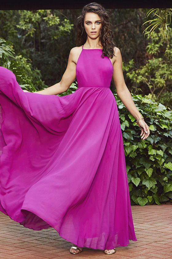 030cd36c02d Mythical Kind of Love Magenta Maxi Dress