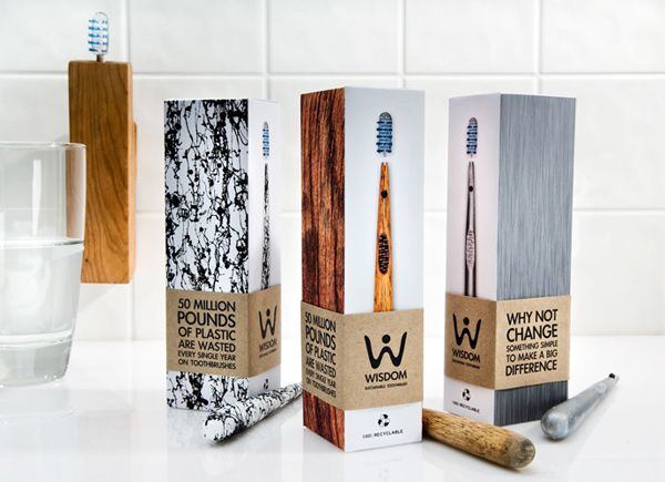 """""""An ejectable head toothbrush that saves waste of plastic and increases hygiene. Comes with a replacement head storage unit and toothbrush holder that suctions to your wall""""  Designed by Kirk Summers, Syracuse University Communication Design program."""