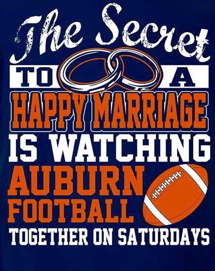 I Love watching Auburn football with my hubby!