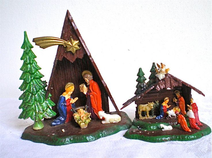 Christmas Home Decor Vintage Nativity Retro