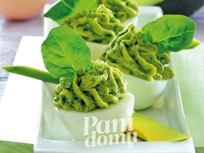 Jajka faszerowane na zielono - przepis -Przepisy kulinarne - przepis