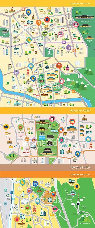 Best Map Design Images On Pinterest Map Design Cover Design - Jeongju map