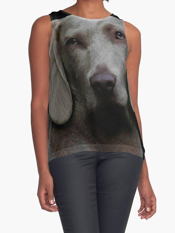 Personalized animal portrait on top woman trendy Tee-shirt