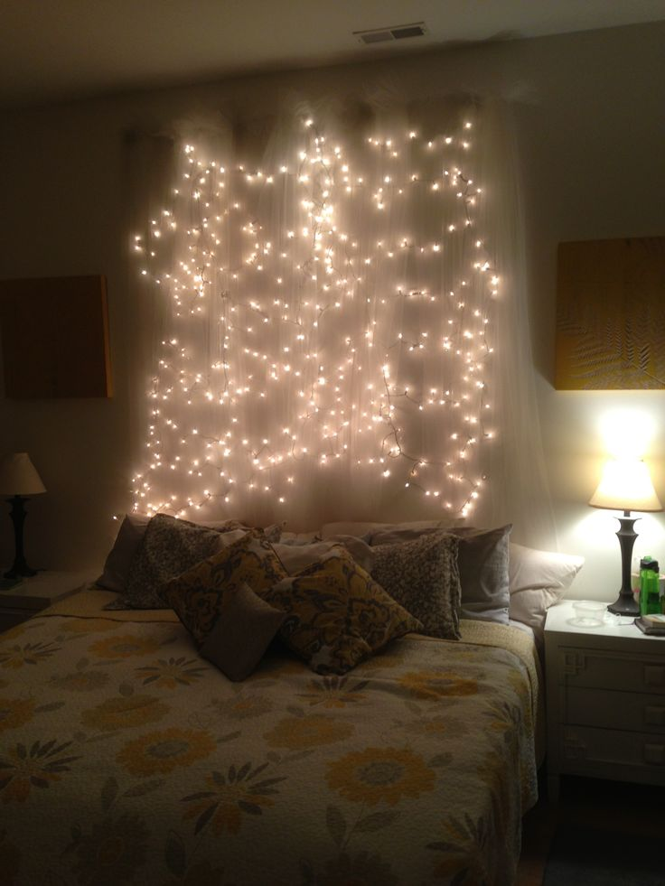 String Lights Headboard Diy : 25+ best ideas about Icicle lights bedroom on Pinterest Christmas lights bedroom, Lighting and ...