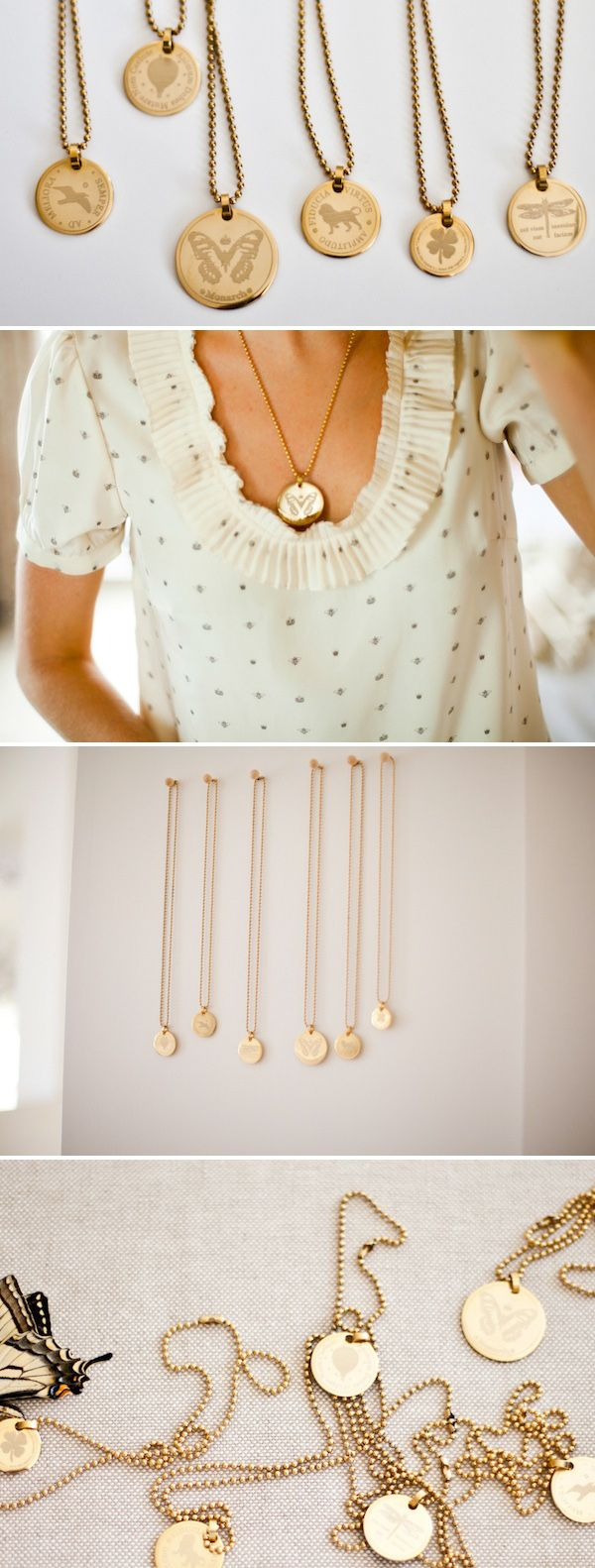 Gold Coins Necklaces by EmersonMade. P.S. - I die.