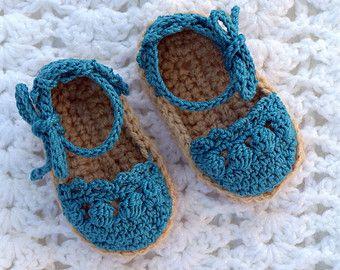 Uncinetto bambino espadrillas sandali di All4Pears su Etsy