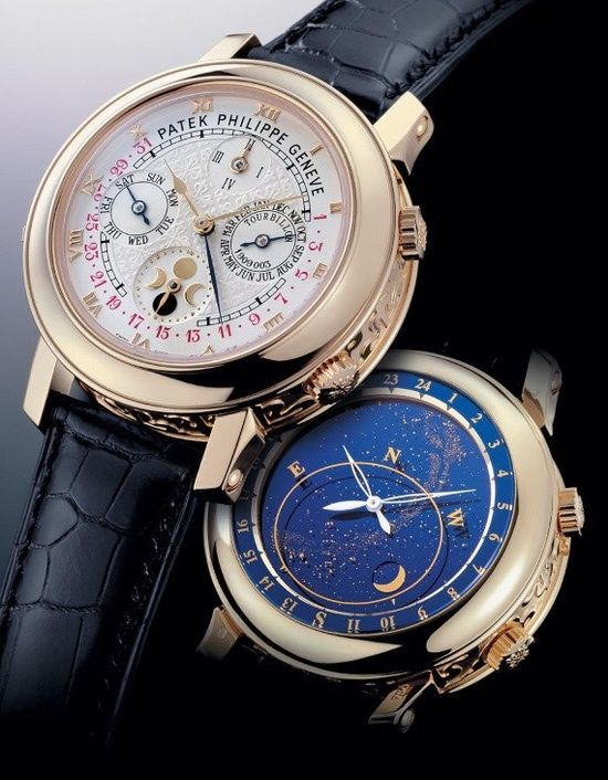 Patek Philippe Sky Moon Tourbillon - the most complex wristwatch Patek Phillipe ever made. Price: $1.3 Million USD