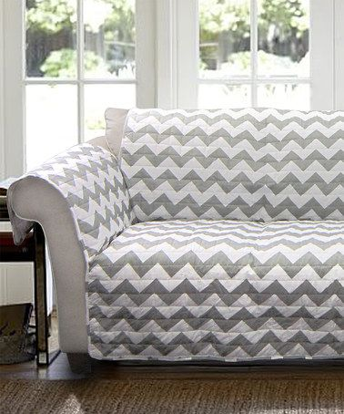 This Gray & White Chevron Furniture Protector is perfect! #zulilyfinds