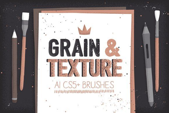 Grain and texture AI brushes by Side Project on @creativemarket