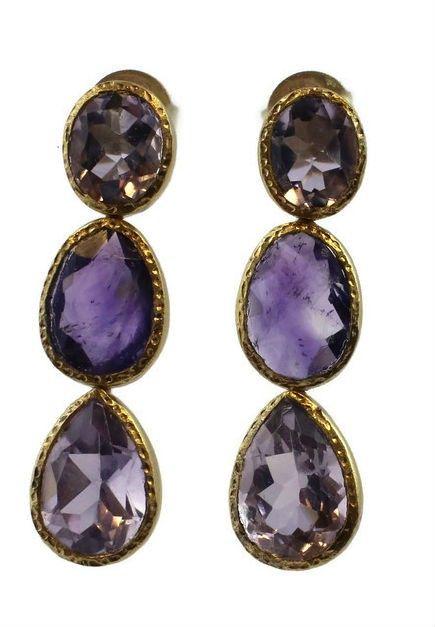 Emma Amethyst Earrings