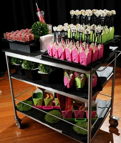 8 Food & Drink Trends - Noodles & Sushi Roaming Cart by Abigail Kirsch Catering Relationships - mazelmoments.com