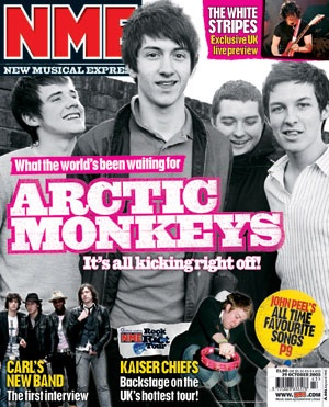Arctic Monkey's first magazine cover.
