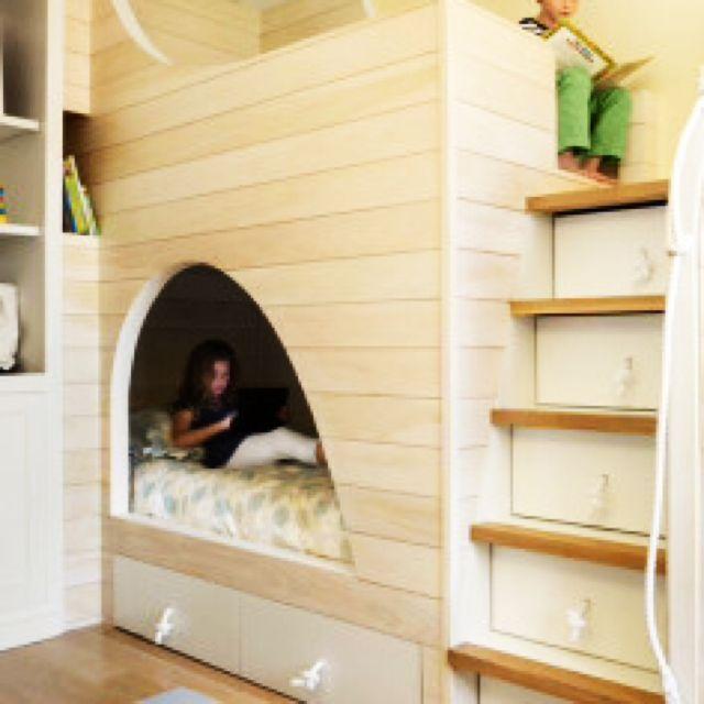ucaさんの、部屋全体,DIY,ロフトベッド,こども部屋,隠れ家,海外インテリア,我が家ではありません,のお部屋写真