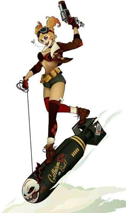 Harley Quinn - DC Bombshells Concept Art by Ant Lucia
