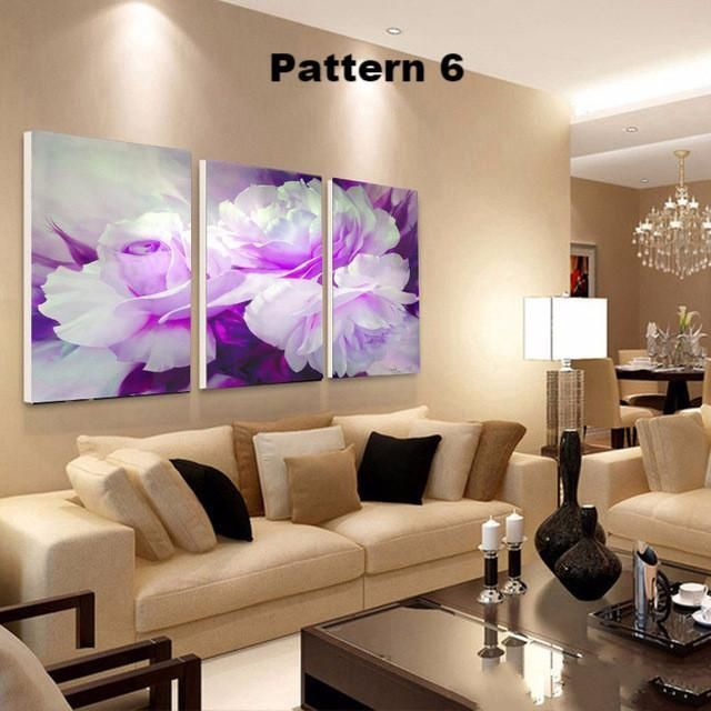 Beautiful Vivid 3 piece Floral Flower - Multiple floral and size choices #casasmodernasfachadasde