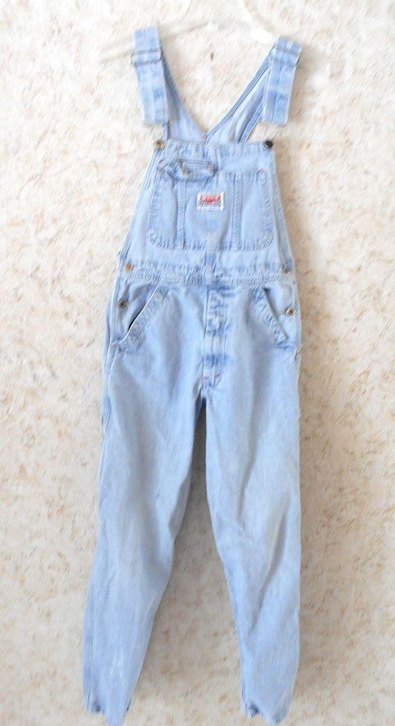 9ec50d018 Retro Ikeda Denim Jean Bib Overalls Made in Canada Vintage Boho ...