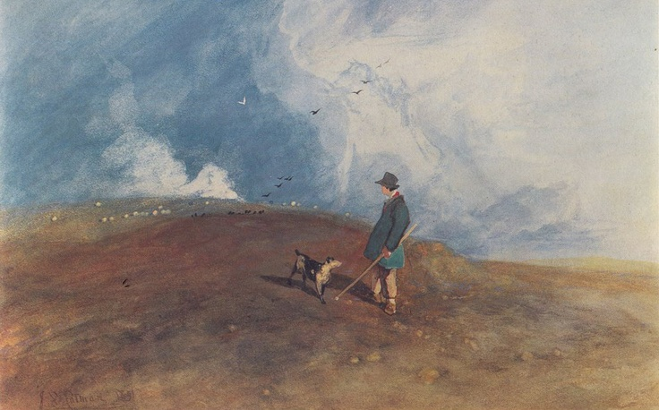 1831 The Shepherd on the Hill - John Sell Cotman