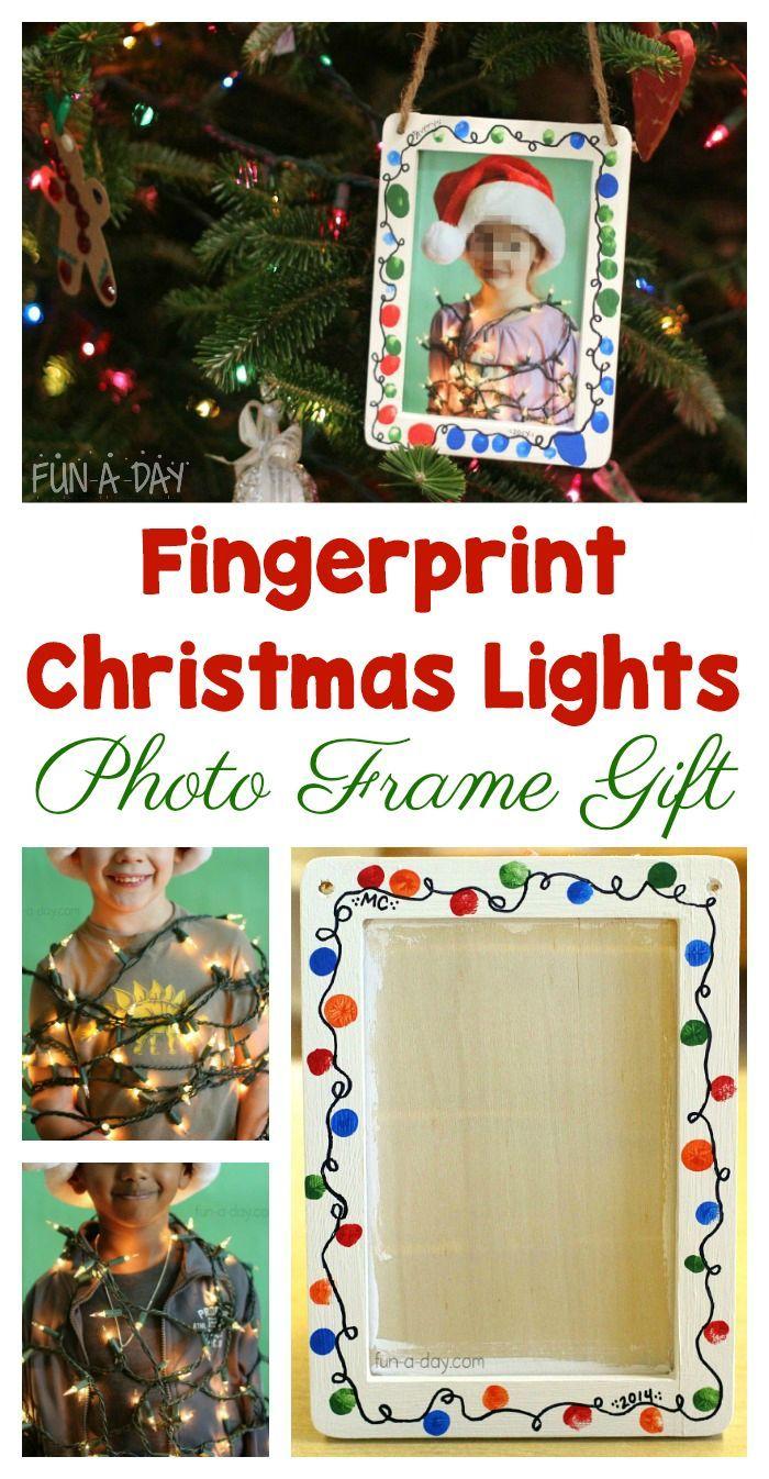 This Fingerprint Christmas Lights Photo Frame Makes the Best