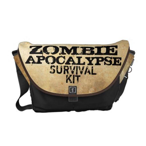 Zombie Apocalypse Survival Kit Messenger Bag