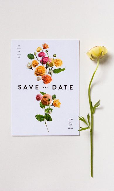 J & M Wildflowers - Save the Date | Lisa Hedge  Interessante colocar sementes de flores