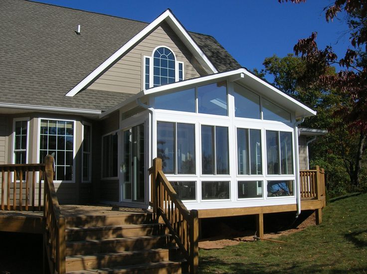We Built This Sunroom Over An Existing Deck Then We Added