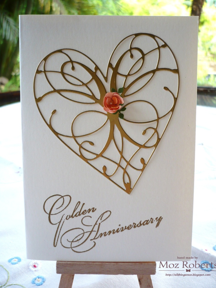 Golden Wedding Anniversary Card by Moz