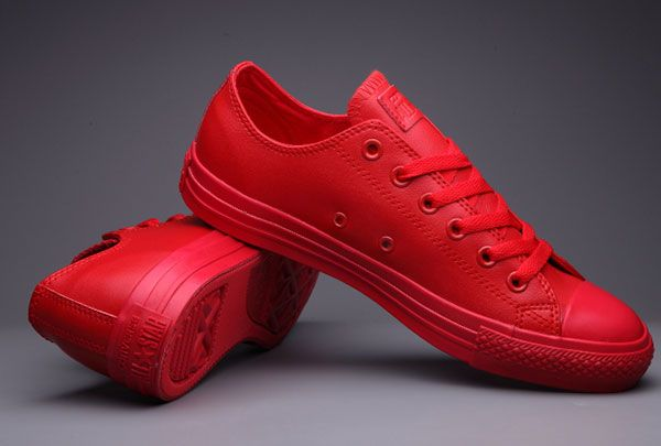 Classic All Star All Red Converse Chuck Taylor All Star Leather Low