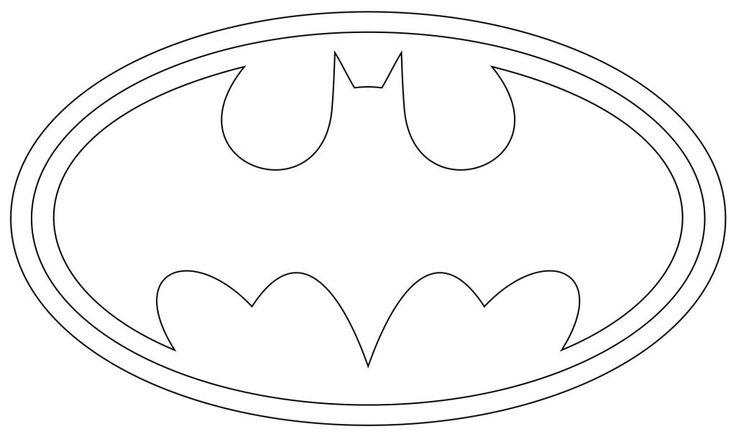 Batman Zeichen Ausmalbilder | Batman logo, Kuchen-vorlagen ...