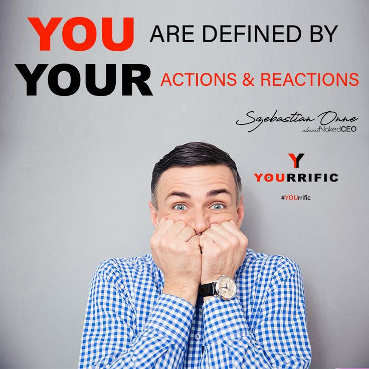 YOU are defined by YOUR actions & reactions - Szebastian Onne #YOUrrific #BeYOU #Fashion #Fitness #Style #Influence #Thread