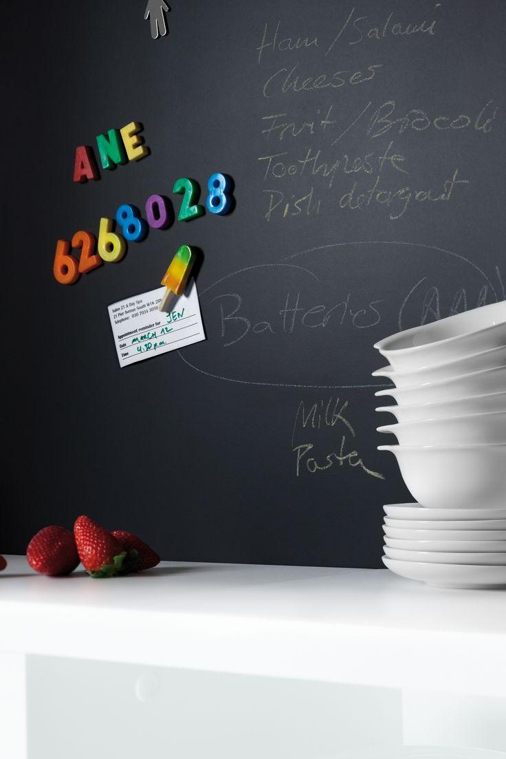 Matt Black Magnetic board.