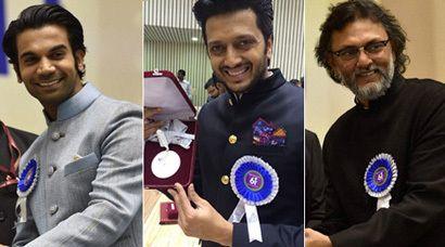 PHOTOS: Rajkummar Rao, Riteish Deshmukh receive 61st National Film Award | The Indian Express