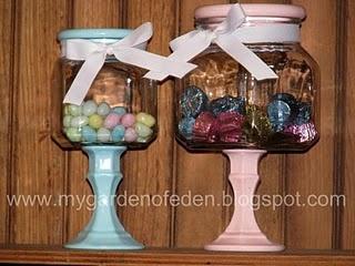 jars w/candlesticks