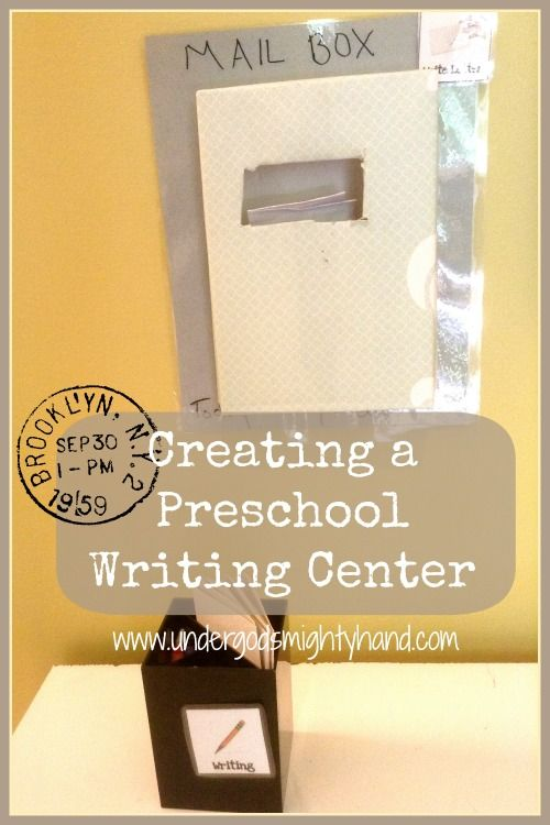 Creating a Preschool Writing Center via Under God's Mighty Hand