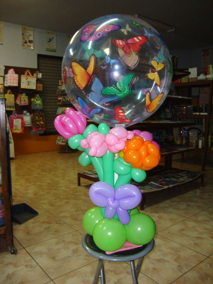 388 best images about centerpiece for a party on pinterest - Centros de mesa con globos ...