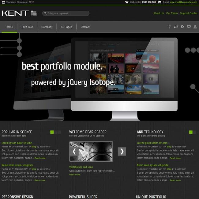 Kent Powerful Responsive Joomla Template