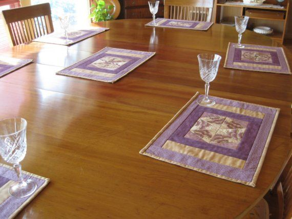 Mauve and Purple Placemats by ISewTotes on Etsy, $18.00