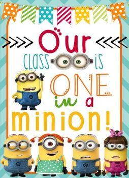 Minion Themed Classroom Posters! 4 Different Posters your students will LOVE!