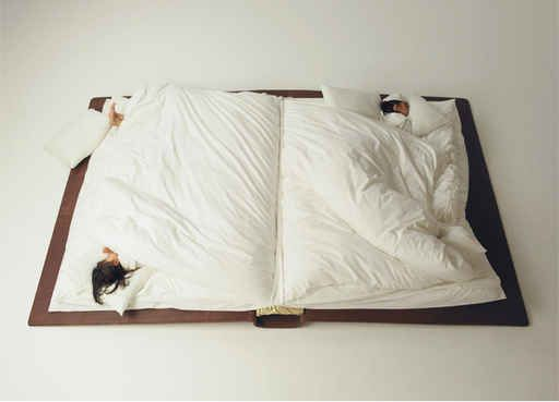 This giant book bed.