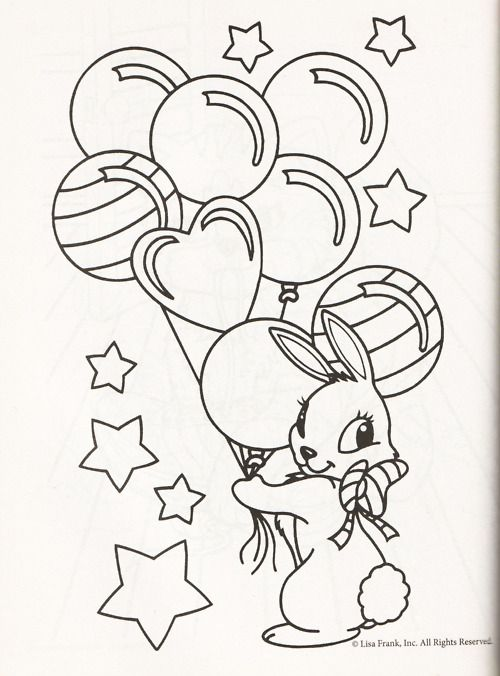 Lisa Frank Coloring Pages Ballet Bunnies