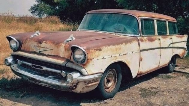 No Nomad: 1957 Chevrolet 210 Wagon #Projects, #Wagons #Chevrolet - https://barnfinds.com/no-nomad-1957-chevrolet-210-wagon/