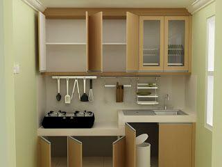 konsep dapur dengan ruang yang sempit
