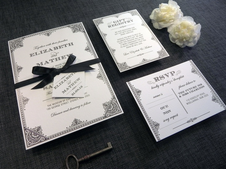 Diy Printable Wedding Invitation Filigree 4 Pieces 95 00 Via Etsy
