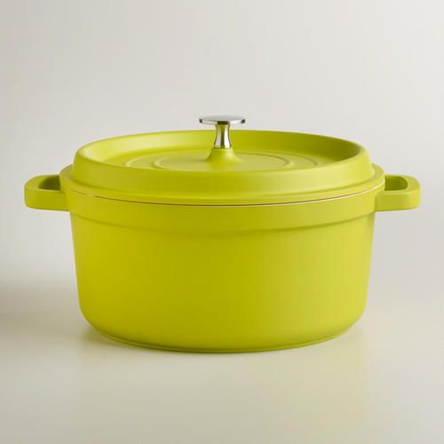 One of my favorite discoveries at WorldMarket.com: Green Round Cast Aluminum Dutch Oven