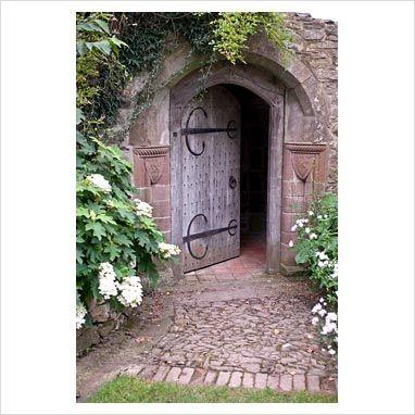 GAP Photos - Garden & Plant Picture Library - Door to folly - Stockton Bury Garden, Herefordshire - GAP Photos - Specialising in horticultural photography