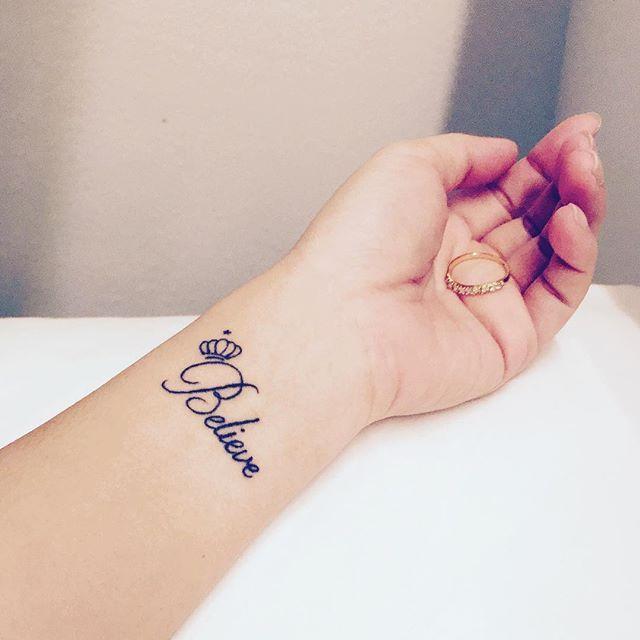 Believe Tattoos Tattoospedia Believe Tattoos Name Tattoos On