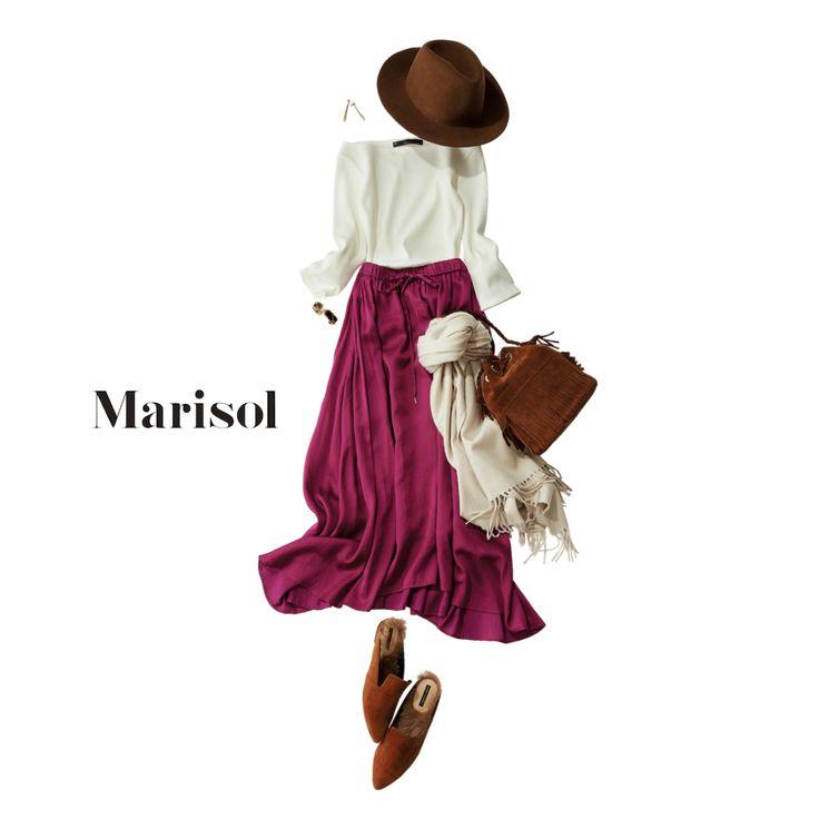 彼の新居探しには不動産屋さんへの心証もよくなるエレガントな装いでMarisol ONLINE|女っぷり上々!40代をもっとキレイに。