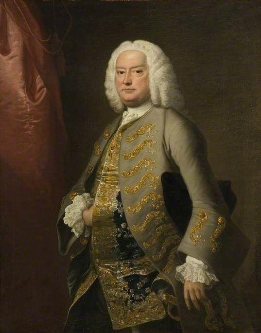 """""""Sir Edmund Isham, 6th Bt Isham"""", Thomas Hudson, ca. 1755; Lamport Hall 17"""