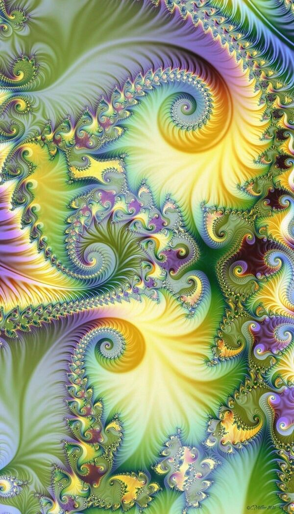 Fractal Art - this would make a wonderful quilt. Love the colours!